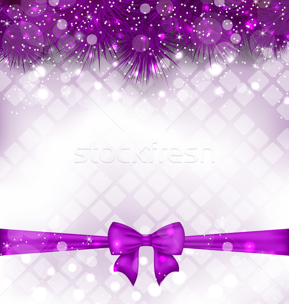 Shimmering Luxury Background with Bow Ribbon Stock photo © smeagorl