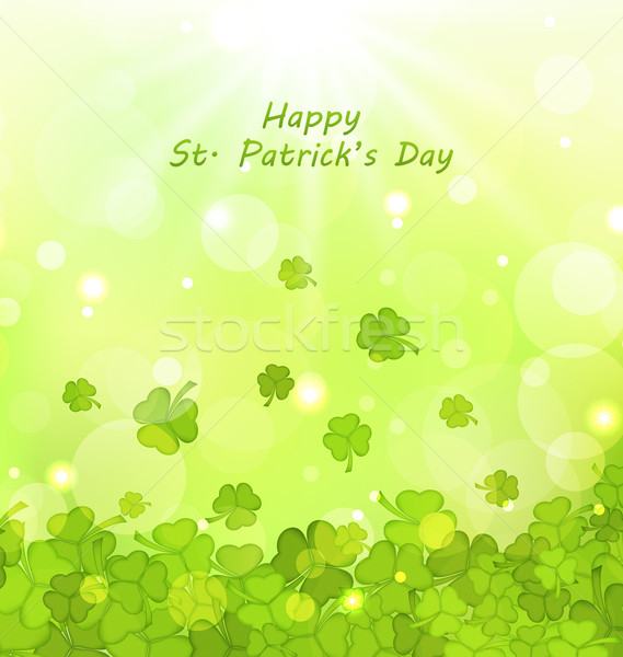 Glowing Background with Clovers for St. Patrick's Day Stock photo © smeagorl