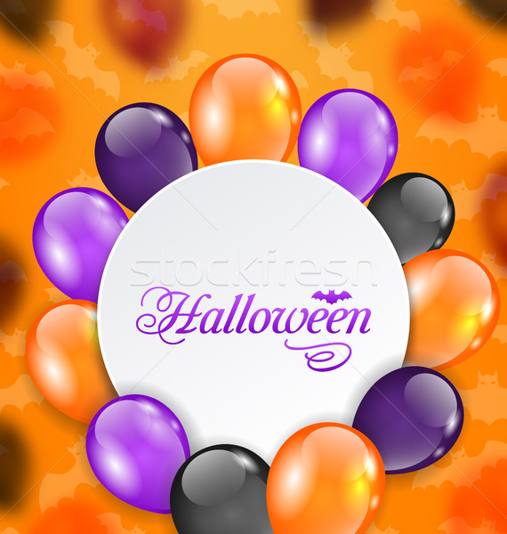 Halloween Greeting Card with Colored Balloons Stock photo © smeagorl
