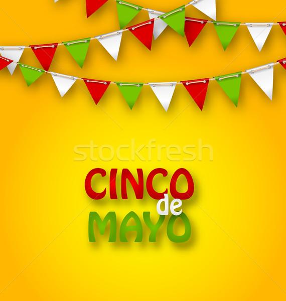Cinco De Mayo Holiday Bunting Background Stock photo © smeagorl
