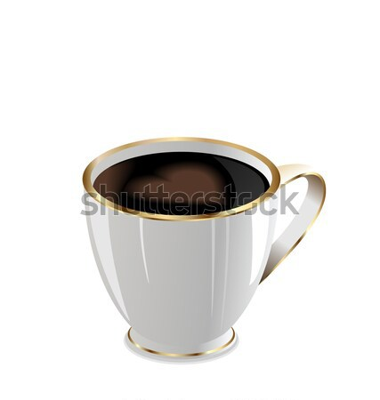 Illustration of coffee mug with love heart Stock photo © smeagorl