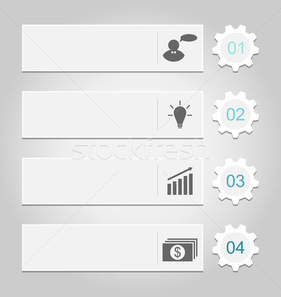 Modern design templates, can be used for infographics, numbered  Stock photo © smeagorl