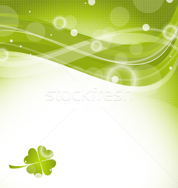 Abstract golvend klaver St Patrick's Day illustratie groene Stockfoto © smeagorl