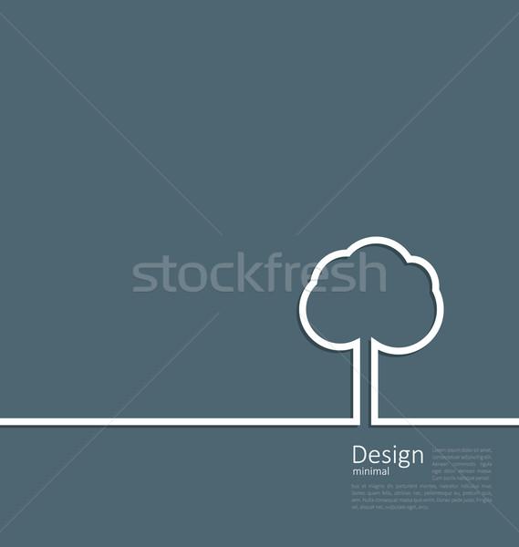 Tree standing alone symbol Stock photo © smeagorl