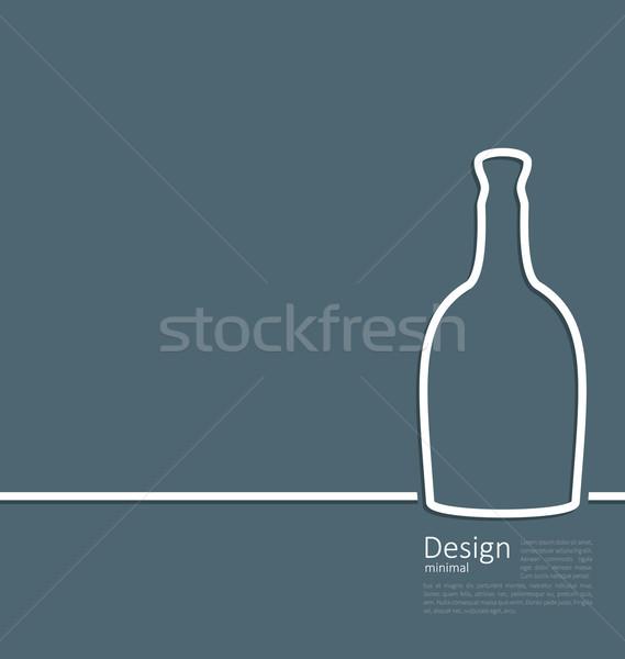 Internetowych szablon logo butelki wina minimalny Zdjęcia stock © smeagorl