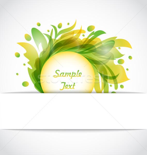Eco Floral Transparent Frame Stock photo © smeagorl