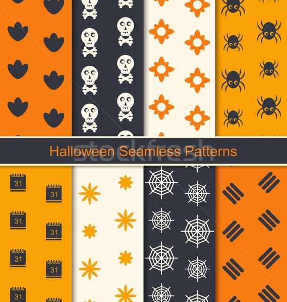 Foto d'archivio: Senza · soluzione · di · continuità · texture · felice · halloween · illustrazione · raccolta
