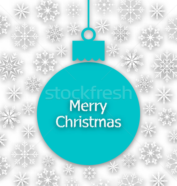 Karácsony papír labda szokatlan üdvözlőlap illusztráció Stock fotó © smeagorl