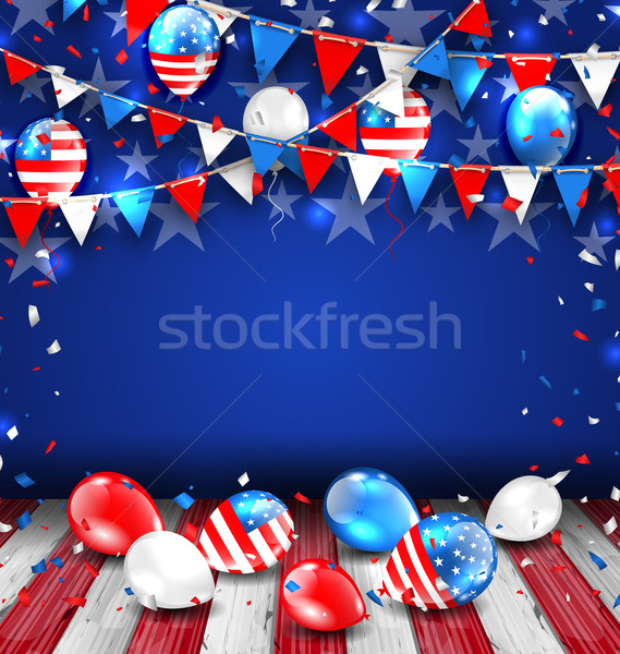 Colorful Template for American Holidays Stock photo © smeagorl