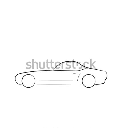 Abstact sportcar(profile) isolated on white background Stock photo © smeagorl