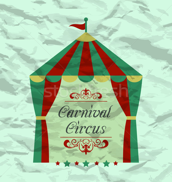 Vintage circus poster for your advertising Stock photo © smeagorl