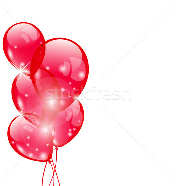 Flying red balloons isolated on white background Stock photo © smeagorl