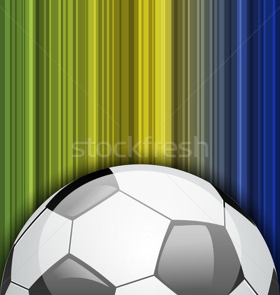 Futebol Brasil 2014 futebol campeonato ilustração Foto stock © smeagorl