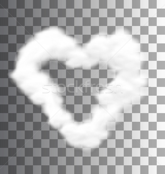 Illustration Fluffy Cloud Shape Heart Love Stock photo © smeagorl