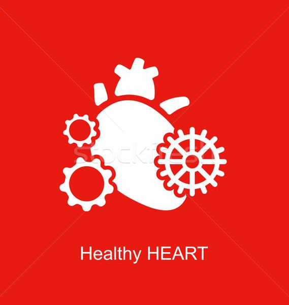 Concept of Heart as Perpetuum Mobile Stock photo © smeagorl