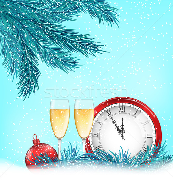 Happy New Year Background with Traditional Elements Stock photo © smeagorl