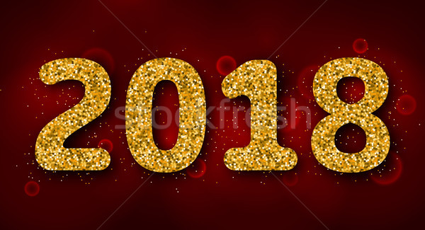 Shimmering Background with Golden Dust for 2018 Happy New Year Stock photo © smeagorl