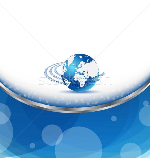 Kart toprak gezegen örnek kartvizit iş Stok fotoğraf © smeagorl