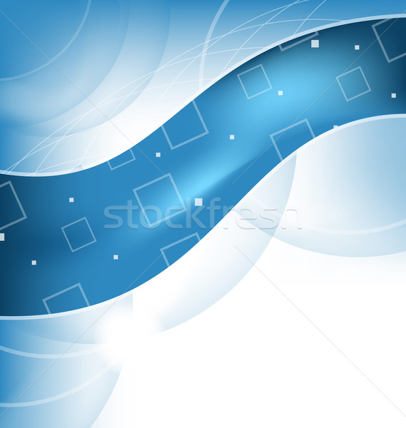 Abstract techno background, wavy design Stock photo © smeagorl