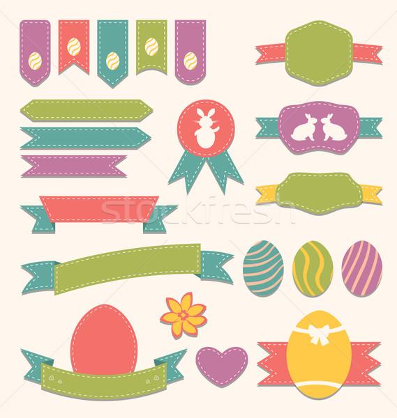 Pasqua scrapbook set etichette nastri altro Foto d'archivio © smeagorl