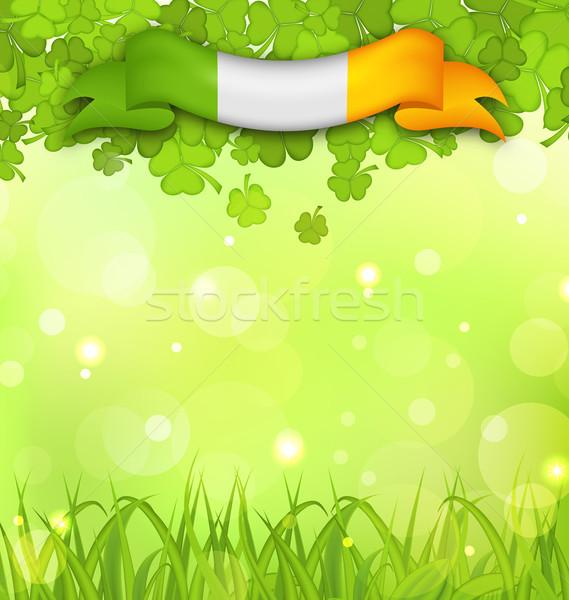 Natureza grama irlandês bandeira ilustração Foto stock © smeagorl