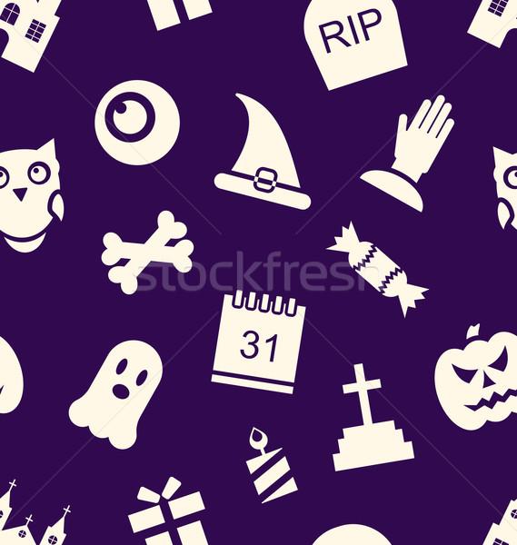 Foto d'archivio: Halloween · illustrazione · tradizionale · simboli · mano