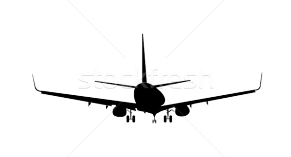 Silhouette of aircraft Stock photo © smeagorl