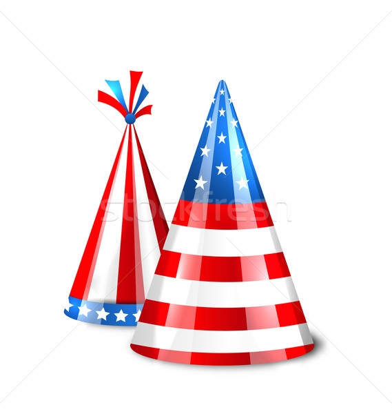 Party Hats with Flag of the United States of America Stock photo © smeagorl