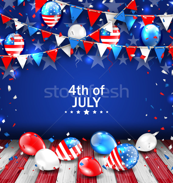 Colorful Template for American Independence Day Stock photo © smeagorl