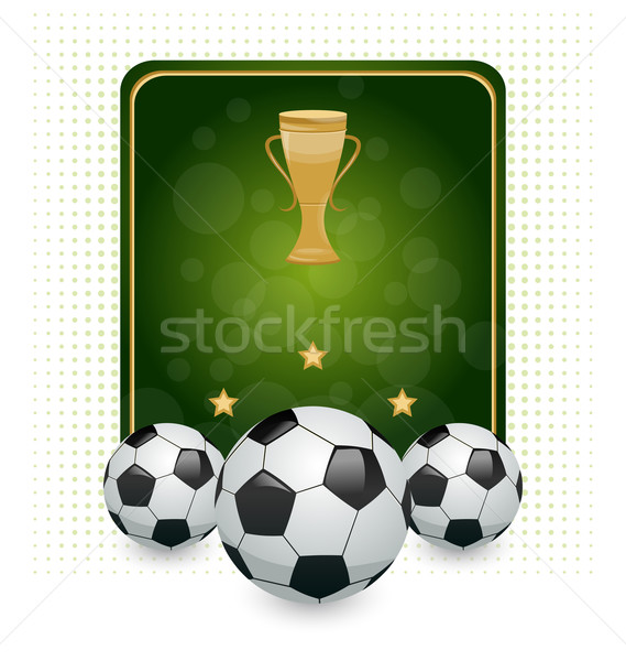 Football layout with champion cup and place for your text Stock photo © smeagorl