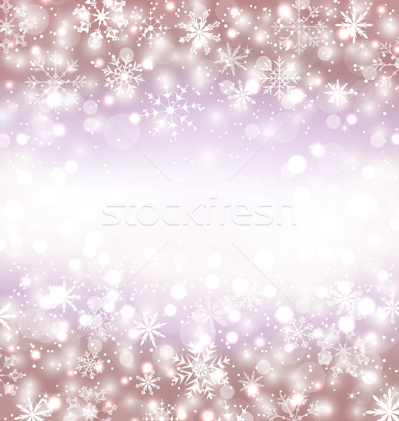 Navidad winter background with snowflakes and copy space for you Stock photo © smeagorl