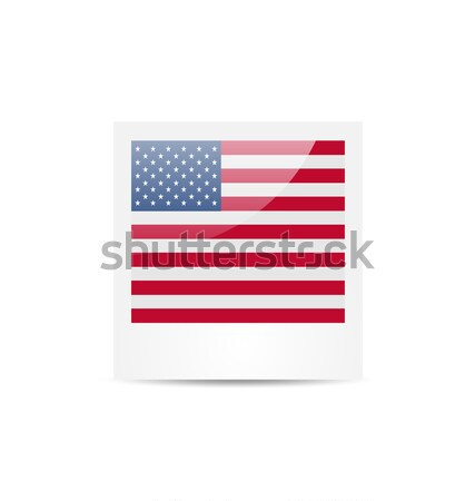 Photo frame in US national colors for Independence Day, isolated Stock photo © smeagorl