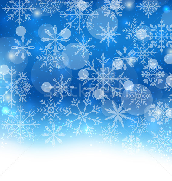 Winter Blue Background with Snowflakes Stock photo © smeagorl