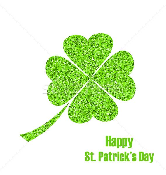 Shiny Twinkle Clover for St. Patricks Day Stock photo © smeagorl