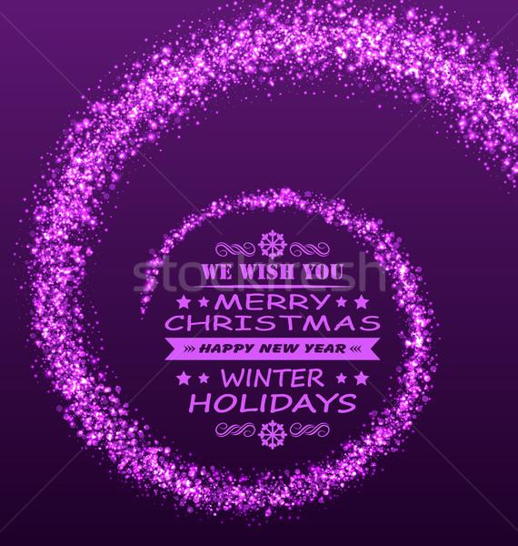 Christmas wensen magie stof paars schitteren Stockfoto © smeagorl