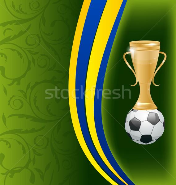 Fútbol tarjeta pelota premio ilustración fútbol Foto stock © smeagorl