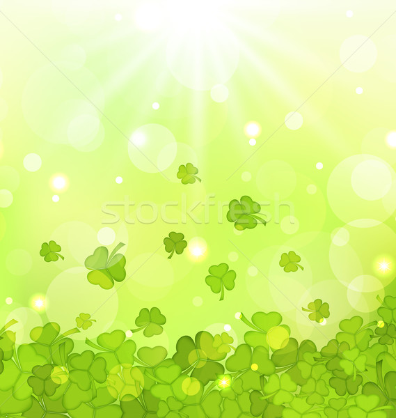 Glowing background with shamrocks for St. Patrick's Day Stock photo © smeagorl