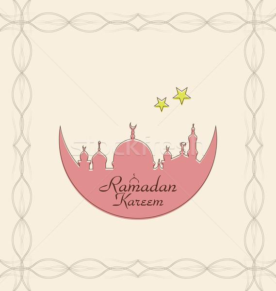 Kreatív ünneplés kártya építészet ramadán illusztráció Stock fotó © smeagorl
