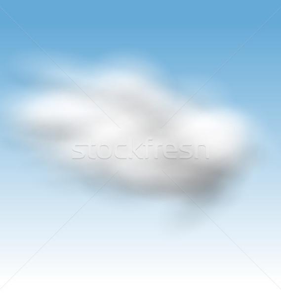 Blue Sky пушистый облака иллюстрация фон лет Сток-фото © smeagorl