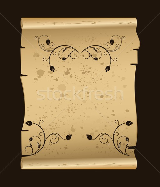 manuscript with floral elements Stock photo © smeagorl