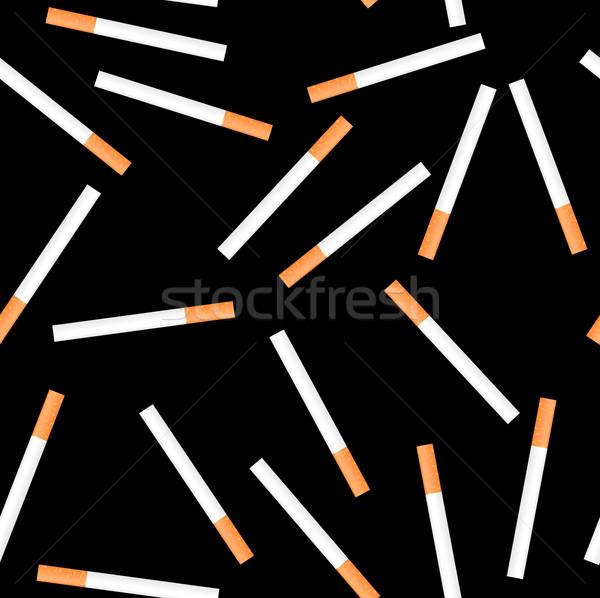 Cigarette seamless on black background Stock photo © smeagorl