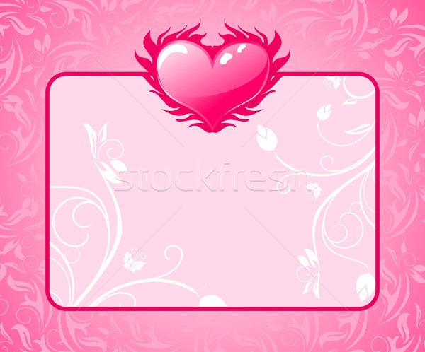 congratulation card with heart for Valentine's day Stock photo © smeagorl