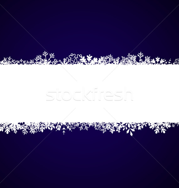 Winter Abstract Frame with Snow. Christmas Snowflake Surface Stock photo © smeagorl