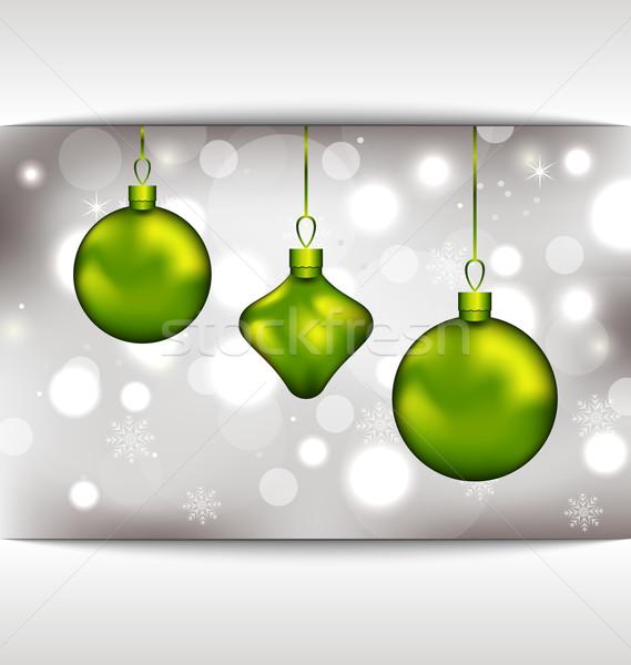 Foto stock: Férias · convite · natal · ilustração