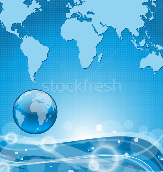 Absztrakt víz Föld illusztráció földgömb természet Stock fotó © smeagorl