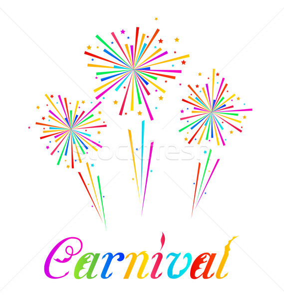 Sketch abstract colorful exploding firework for Carnival party  Stock photo © smeagorl
