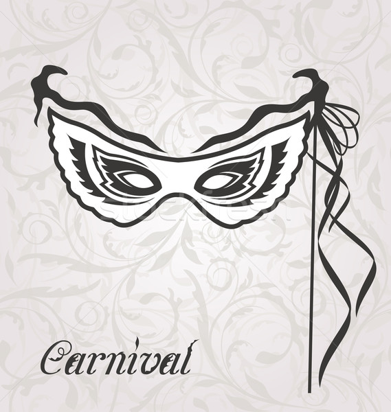 Venetian carnival or theater mask with ribbons Stock photo © smeagorl