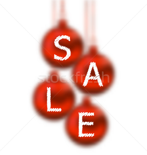 Christmas glassy balls with lettering sale Stock photo © smeagorl