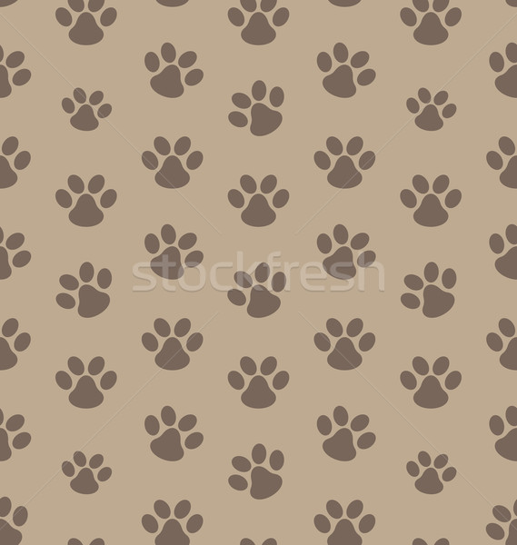 Seamless Texture with Trace of Cat Stock photo © smeagorl