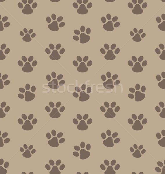 シームレス テクスチャ トレース 猫 実例 背景 ストックフォト © smeagorl